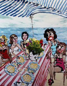 Mary Ronayne, Celeste's Liquid Lunch with Friends, 2021 | HOFA Gallery (House of Fine Art)