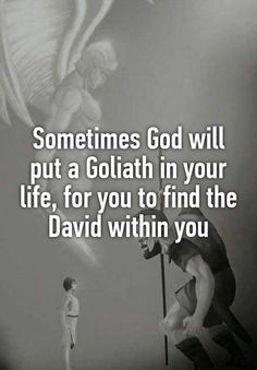 Isnt this the truth! In order to find courage, sometimes God brings giants into the Christian life.Isnt this the truth! In order to find courage, sometimes God brings giants into the Christian life. Faith Quotes, Me Quotes, Motivational Quotes, Biblical Inspirational Quotes, Gods Will Quotes, Bad Dad Quotes, Praise God Quotes, Evil Quotes, Future Quotes