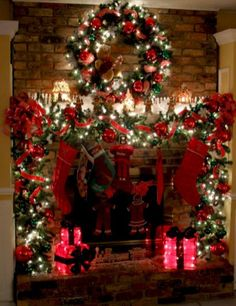awesome 38 Cool Christmas Fireplace Mantel Decoration Ideas