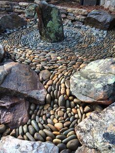 75 Stunning Front Yard Rock Garden Landscaping Ideas - Page 33 of 75 - Home Decor & Decorative Accents for Every Room Pebble Garden, Garden Art, Concrete Garden, Garden Paths, Zen Rock Garden, Diy Garden, Landscaping With Rocks, Front Yard Landscaping, Landscaping Supplies