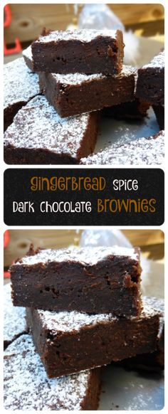 These classic fudgy brownies have been given a little festive jazz by adding traditional gingerbread spices. Perfection!