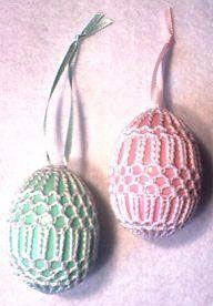 Art Deco Crochet Eggs Patterns - Crochet That! Bunny Crochet, Crochet Home, Crochet Gifts, Thread Crochet, Crochet Yarn, Free Crochet, Easter Egg Pattern, Easter Crochet Patterns, Egg Crafts