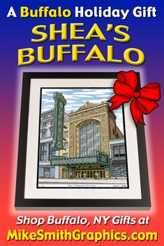 Highly detailed drawing featuring Shea's Theater in Buffalo, NY by Western NY artist Michael Smith. Shop for unique artwork in a variety of subjects at MikeSmithGraphics.com. Stage Show, Limited Edition Prints, Wall Art Prints, Buffalo, Theater, Ink, Drawings, Unique, Artist