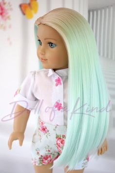 Your place to buy and sell all things handmade Pistachio Caramel American Girl doll ombre wig Fits most Ropa American Girl, American Girl Doll Room, Custom American Girl Dolls, American Girl Clothes, Girl Doll Clothes, American Dolls, American Girl Hairstyles, Our Generation Dolls, Ombre Wigs