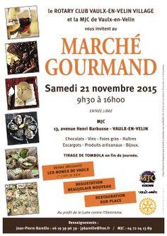 Le Marché Gourmand du Rotary Vaulx en Velin accueille des créateurs et artistes.