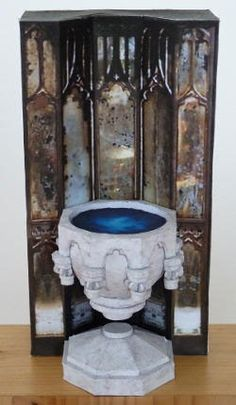 Dumbledore's pensieve is a type of magical stone basin that he uses to examine and store memories.
