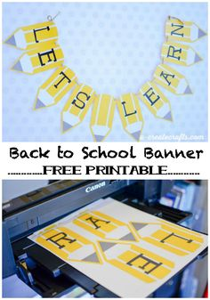 Free Printable Back to School Pencil Banner School – DIY Back to school teacher banner by Michaels Makers U-Create Crafts Back To School Party, Back To School Teacher, Beginning Of School, School Parties, School Classroom, Back To School Ideas For Teachers, Back To School Crafts For Kids, Back To School Displays, Back To School Gifts