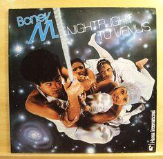BONEY M. - Nightfligt to Venus - mint minus - Vinyl LP Disco Uncut Postcards RAR