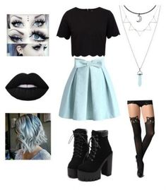 Hair Pastel Goth Skirts Ideas Source by clothes ideas Cute Emo Outfits, Ddlg Outfits, Teen Fashion Outfits, Mode Outfits, Girl Outfits, Pastel Goth Fashion, Kawaii Fashion, Cute Fashion, Emo Fashion