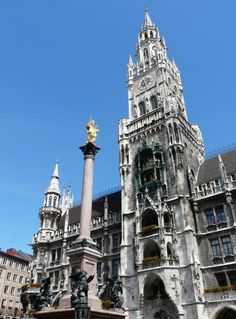 München - From the beautiful Glockenspiel  pictured here in the Rathaus on Marienplatz, to the Residence, to the countless places to go and see, München/Munich is one of my favorite places to travel.....and the Bier is pretty good, as well!!