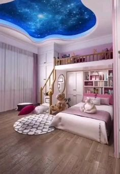 Children's bedroom decor and room design for two children are an important element of creating functional and comfortable home. Room Design Bedroom, Kids Bedroom Designs, Home Room Design, Room Ideas Bedroom, Small Room Bedroom, Kids Room Design, Room Kids, Childrens Bedroom Decor, Bedroom Decor For Teen Girls