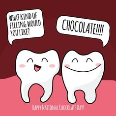 NATIONAL CHOCOLATE DAY is Oct. 28! Dark chocolate contains antioxidants good for teeth and oral health! Uploaded by user