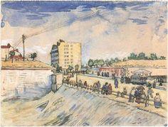 Vincent van Gogh Gate in the Paris Ramparts Watercolor