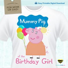 Peppa Pig Iron On TransfersThis item is designed for do-it-yourself tshirt crafts. If you are looking to make matching birthday shirts for your child's event, t