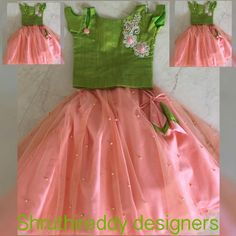 Best 12 The colour combination – SkillOfKing. Baby Girl Frocks, Baby Girl Party Dresses, Frocks For Girls, Dresses Kids Girl, Kids Outfits, Kids Dress Wear, Kids Gown, Kids Frocks Design, Kids Lehanga Design