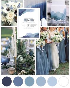 Blue Watercolor Wedding Theme is part of Wedding A splash of dusty blues and a dab of navy blue remind us of a beautiful watercolor Paint your love story with a blue, watercolor wedding theme and d - Fall Wedding, Dream Wedding, Trendy Wedding, Wedding Ceremony, Wedding Paper Divas, Dusty Blue Weddings, Dusty Blue Bridesmaid Dresses, Navy Bridesmaids, Wedding Themes