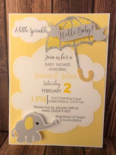 Excited to share this item from my shop: 25 Elephant invitations - baby shower - baby shower invitations - baby shower invites - elephant - umbrella invites Shower Party, Baby Shower Parties, Baby Shower Themes, Shower Ideas, Baby Shower Cards, Baby Shower Invitations, Invites, Baby Cards, Wedding Invitation
