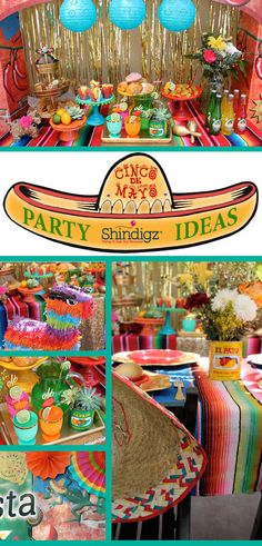 Fiesta like there is no mañana! Check out the Cinco de Mayo party that Laura's Little Party styled using Shindigz products!