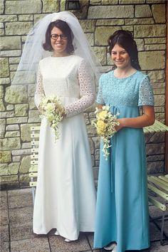 1970 I love this bridesmaids dress!