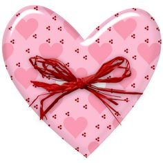 Pink heart with red bow Heart Never, I Love Heart, Key To My Heart, Happy Heart, Valentine Heart, Valentine Crafts, Valentines, Pink Love, Pretty In Pink