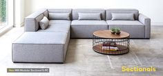 Left portion of this sofa only - ottoman and two pieces next to that and mirrored to be back to back / Gus Modern