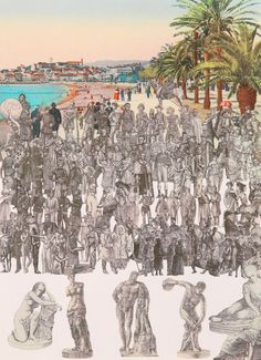 Buy- World Tour, Cannes, Statuary- signed limited edition silkscreen print by pop art legend Sir Peter Blake from CCA Galleries Beatles Albums, Peter Blake, English Artists, Royal College Of Art, Lonely Heart, London Art, Silk Screen Printing, Limited Edition Prints, Cannes