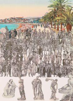 World Tour: Cannes, Statuary Silkscreen Print by Sir Peter Blake