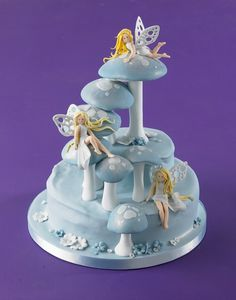 fairies & toadstool cakes by Debbie Brown - Google Search