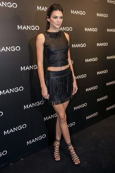 "Kendall Jenner total black Tribal Spirit ""Mango"""
