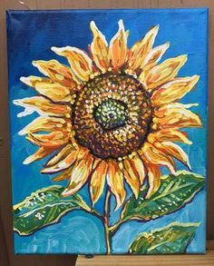 A personal favorite from my Etsy shop https://www.etsy.com/listing/505562272/bright-sunflower-sun-flower-yellow-blue