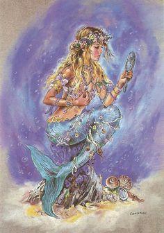 Christine Haworth art ~ jeweled and adorned mermaid