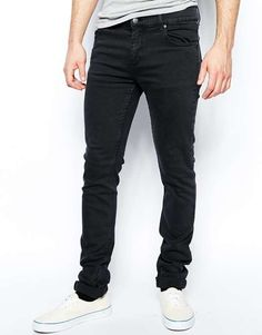 Cheap Monday | Tight Skinny Jeans in Overdye Almost Black #cheapmonday #jeans