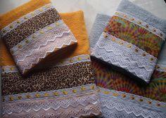 toalhas de banho decoradas | Cema Toalhas Decoradas: Conjuntos de Toalhas de Banho e Rosto: