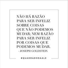Não há!  #quadradodaale #frases #josephgoldstein