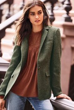 Buy Green Wool Blend Heritage Jacket from the Next UK online shop