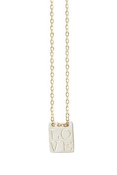 LOVE Pendant Necklace.  I love with the letters are stacked like that