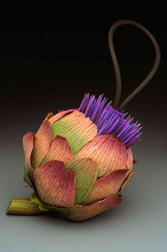 Kathleen Dustin - Blooming Artachoke Purse