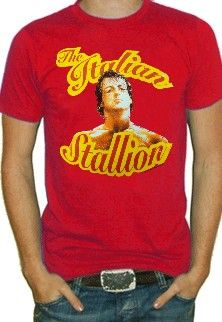 "Rocky Balboa ""The Italian Stallion"" Vintage Movie T-Shirt"