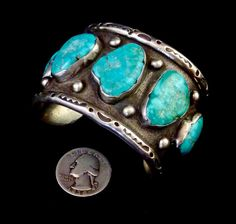 106g Vintage Navajo Sterling Silver Cuff by PoohsCornerOTheWorld