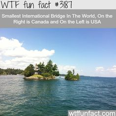 Smallest international bridge, USA and Canada borders - WTF fun facts