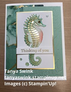 Horse Cards, Nautical Cards, Beach Cards, Seahorses, Stamping Up Cards, Altenew, Animal Cards, Fall Cards, Cards For Friends