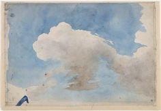 Clouds in the sky, Eugène Delacroix (1798-1863) / Paris, musée du Louvre, D.A.G.