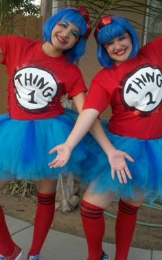 Thing1 & Thing2 Teen style @Cassie Attaway we are so doing this for halloween!! haha