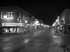 Downtown Cape Girardeau at night, probably taken in 1972.  Photo courtesy of the Southeast Missourian.  #history #backintime