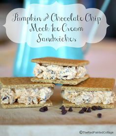 Pumpkin & Chocolate Chip Mock Ice Cream Sandwiches - The Red Painted Cottage