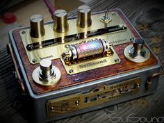 Steampunk style guitar pedal #OverZoid
