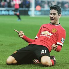 Ander Herrera Scored Twice for Manchester United against Aston Villa on 4th April 2015.