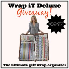 Wrap iT Deluxe Gift Wrap Organizer #Giveaway and Discount Code! - Viva Veltoro