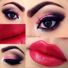 .@glambymeli | @anastasiabeverlyhills brow genius ~ @hotmakeupprofessional glam shadow quad ... | Webstagram