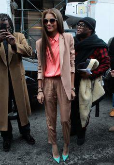 Zendaya arriving at the DKNY Women's fashion show during Mercedes-Benz Fashion Week Fall 2014 (x)